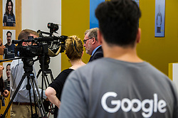 Pictured: David Mundell<br /> Scottish Secretary David Mundell visited a 'digital garage' in Edinburgh which trains people in digital skills. The Google Digital Garage, in Shandwick Place is a social responsibility outlet for the corporate giant<br /> <br /> <br /> Ger Harley | EEm 23 July 2018