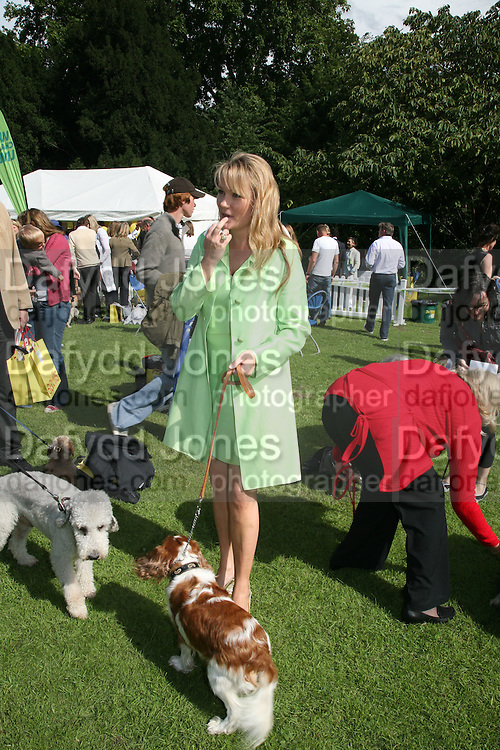 GEORGEA BLAKEY AND STITCH,  Sixth Macmillan Dog Day for Macmillan Cancer Support, Supported by Savills. Royal Hospital Chelsea, London, SW3. 3 July 2007. -DO NOT ARCHIVE-© Copyright Photograph by Dafydd Jones. 248 Clapham Rd. London SW9 0PZ. Tel 0207 820 0771. www.dafjones.com.