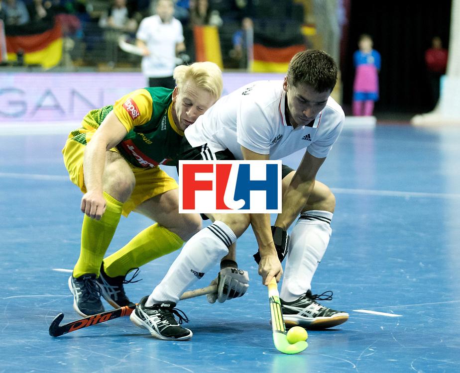 BERLIN - Indoor Hockey World Cup<br /> Men: Russia - South Africa<br /> foto: VAKHMISTROV Evgeny.<br /> COPYRIGHT WILLEM VERNES