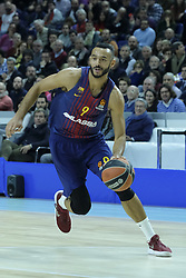 December 14, 2017 - Madrid, Spain - Adam Hanga of FC Barcelona Lassa during the 2017/2018 Turkish Airlines Euroleague Regular Season Round 12 game between Real Madrid v FC Barcelona Lassa at Wizink Arena on December 14, 2017 in Madrid, Spain. (Credit Image: © Oscar Gonzalez/NurPhoto via ZUMA Press)