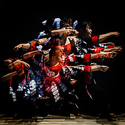 MAY 28, 2017 -  A multiple-exposure image of dancers performing at the Yosakoi-in-Oiden festival in Toyokawa, Japan. Yosakoi incorporates traditional Japanese dance movements with modern pop music.  (Photo by Ben Weller/AFLO) (JAPAN) [UHU]