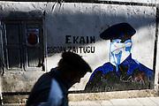 A graffiti remembers a ETA member who died in 2000, in Hernani, Basque Country.