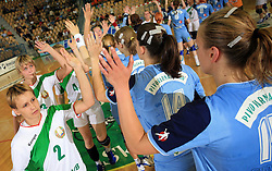 The end of handball game between women national teams of Slovenia and Belorussia, second qualification game for the European Chamionship 2009, on June 7, 2008, in Arena Zlatorog, Celje, Slovenija. Win of Belorussia, who qualified for EC 2009 in Macedonia. (Photo by Vid Ponikvar / Sportal Images)