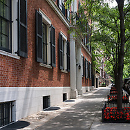 East 94th street at Fifth Avenue in the Carnegie Hill section of New York City.