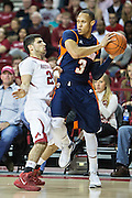 FAYETTEVILLE, AR - DECEMBER 19:  Terence Smith #3 of the UT Martin Skyhawks is defended by Kikko Haydar #20 of the Arkansas Razorbacks at Bud Walton Arena on December 19, 2013 in Fayetteville, Arkansas.  The Razorbacks defeated the Skyhawks 102-56.  (Photo by Wesley Hitt/Getty Images) *** Local Caption *** Terence Smith; Kikko Haydar
