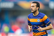 Chelsea midfielder Pedro (11) warms up prior to the Europa League  quarter-final, leg 2 of 2 match between Chelsea and Slavia Prague at Stamford Bridge, London, England on 18 April 2019.