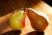 Still life Pears on wooden table