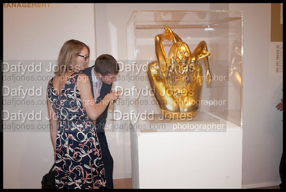 SARAH GILES; LUKE PATON; KATE MOSS SCULPTURE BY MARC QUINN, Masterpiece London 2014 Preview. The Royal Hospital, Chelsea. London. 25 June 2014.