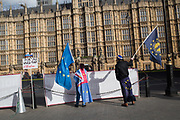 Remainers demonstrating outside Parliament, Westminster, 5 March 2019