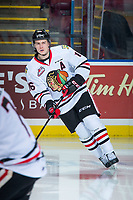 KELOWNA, BC - OCTOBER 20:  Henri Jokiharju #16 of the Portland Winterhawks warms up against the Kelowna Rockets at Prospera Place on October 20, 2017 in Kelowna, Canada. (Photo by Marissa Baecker/Getty Images)