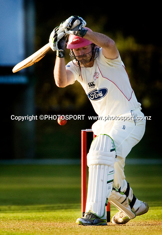 Canterbury batsman Shanan Stewart during play on day two. Canterbury Wizards v Northern Knights, Plunket Shield Game held at Mainpower Oval, Rangiora, Tuesday 05 April 2011. Photo : Joseph Johnson / photosport.co.nz