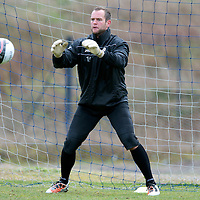 St Johnstone Training....20.04.12<br /> Keepers Alan Mannus in training this morning before tomorrow's game against Dundee Utd<br /> Picture by Graeme Hart.<br /> Copyright Perthshire Picture Agency<br /> Tel: 01738 623350  Mobile: 07990 594431