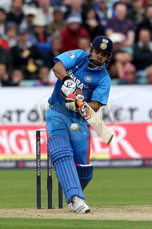 Suresh Raina during the first ODI ( One Day International ) match between England and India held at The Emirates International Cricket Ground in Chester-le-Street, England on the 3rd September 2011...Photo by Ron Gaunt/SPORTZPICS/BCCI