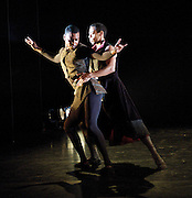 Orpheus<br /> choreography by Will Tuckett<br /> <br /> Ballet Black <br /> Artistic director Cassa Pancho<br /> <br /> Damien Johnson (as Orpheus)<br /> Jade Hale-Christofi (as Hades, King of the Underworld)<br /> <br /> <br /> <br /> Photograph by Elliott Franks