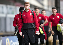 NEWPORT, WALES - Tuesday, October 16, 2018: Wales' Luke Pilling arrives ahead of the UEFA Under-21 Championship Italy 2019 Qualifying Group B match between Wales and Switzerland at Rodney Parade. (Pic by Laura Malkin/Propaganda)