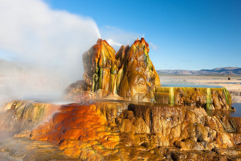 """Fly Geyser 1"" - Photograph of the famous man made Fly Geyser in Nevada."