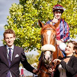 Dice Roll (C. Demuro) wins Haras de Bouquetot - Criterium de la Vente d'Octobre Arqana in Chantilly, France 30/09/2017 photo: Zuzanna Lupa