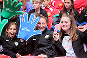 The fans start to come into the stadium before the SSE Women's FA Cup Final match between Chelsea Ladies and Arsenal Ladies at Wembley Stadium, London, England on 14 May 2016. Photo by Nigel Cole.