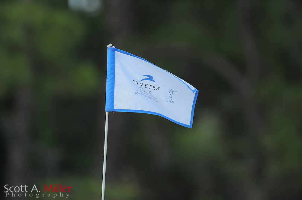 Pin flag during the Symetra Tour's Sara Bay Classic at the Sara Bay Country Club on April 22, 2012 in Sarasota, Fla. ..©2012 Scott A. Miller.