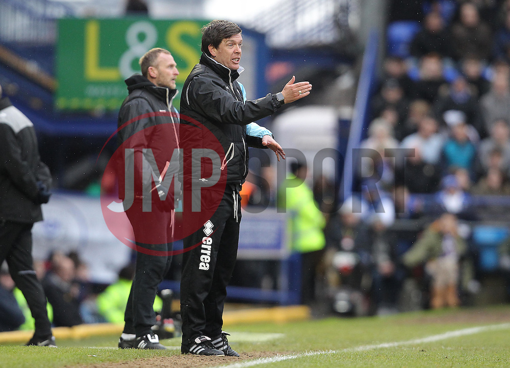 Bristol Rovers Manager, Darrell Clarke - Mandatory byline: Paul Terry/JMP - 13/02/2016 - FOOTBALL - Fratton Park - Portsmouth, England - Portsmouth v Bristol Rovers - Sky Bet League Two