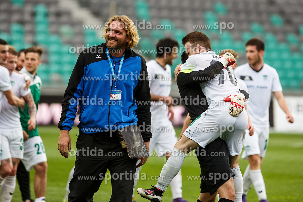 Players of NK Krsko during football match between NK Olimpija Ljubljana and NK Krsko, 31th Round of Prva Liga Telekom Slovenije 2015/16, on April 23, 2016, in Sports park Domzale, Domzale, Slovenia. (Photo by Grega Valancic / Sportida)