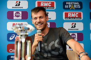 Christophe Lemaitre (FRA) during press conference of Meeting de Paris 2018, Diamond League, at Hotel Marriott, in Paris, France, on June 29, 2018 - Photo Jean-Marie Hervio / KMSP / ProSportsImages / DPPI