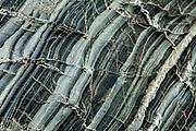Quartz seams in boulders,  Hari Hari beach, West Coast, New Zealand