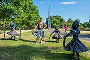 Laura Ford (pictured), Dancing Clog Girls, 2015, the New Art Centre - Frieze Sculpture, one of the largest outdoor exhibitions in London, including work by 25 international artists from across five continents in Regent's Park from 4th July - 7th October 2018.