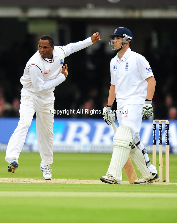 18.05.2012 London, England.  Marlon Samuels in action during the First Test between England and West Indies from Lords.