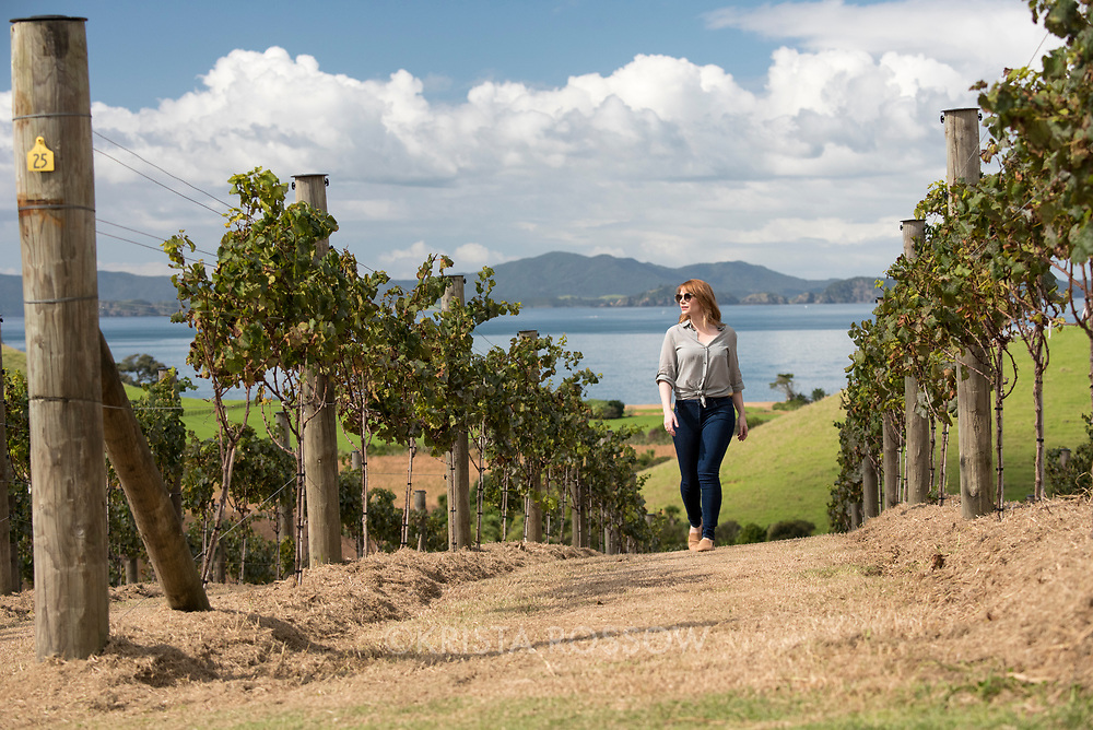 Actor Bryce Dallas Howard on location in the vineyards of the Landing. Behind the scenes at the TNZ/BDH film shoot at the Landing. The Landing is a luxury private property development in New Zealand's Bay of Islands, near Kerikeri, with land for salee, a boutique vineyard, and private holiday residences. http://www.thelandingnz.com/