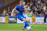 Callum Camps and Alex Woodyard during the EFL Sky Bet League 1 match between Rochdale and Peterborough United at Spotland, Rochdale, England on 11 August 2018.
