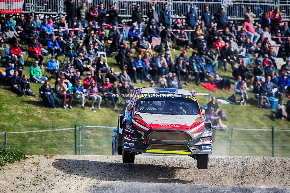 Timo Scheider, MJP Racing Team Austria takes the drop into the valley during WRX 2017 Round Four Race Day at Circuit Jules Tacheny on 14th May 2017