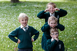 Repro Free: 07/06/2017 Henry Cronin (7) (left), Aoibheann Clancy (7), Emma Lidierth (7) and Michael O' Neill (7) pupils of St. Vincent de Paul Infant School, Griffith Avenue, Dublin are pictured as safefood launch a new free educational resource to help teach primary schoolchildren about the media, advertising and fake news. The launch was also attended by the Minister for Education and Skills, Richard Bruton T.D.. Picture Andres Poveda<br /> <br /> ENDS<br /> Media contact <br /> Emma Walsh, T: 087 317 0897 or E: emma.walsh@ogilvy.com