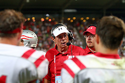 11.07.2011, UPC Arena, Graz, AUT, American Football WM 2011, Group B, Canada (CAN) vs Austria (AUT), im Bild Rick Rhoades (Austria, Head Coach) tactical meeting // during the American Football World Championship 2011 Group B game, Canada vs Austria, at UPC Arena, Graz, 2011-07-11, EXPA Pictures © 2011, PhotoCredit: EXPA/ T. Haumer