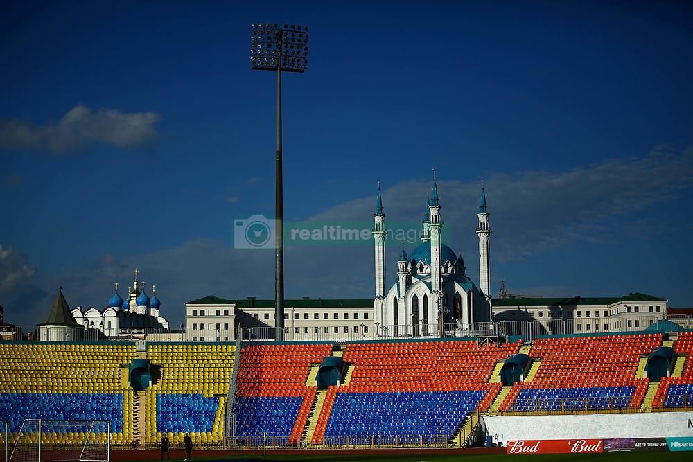 June 27, 2017 - Complexo arquitetônico e histórico do Kremlin de Kazan é visto do estádio Central de Kazan momentos antes do treinamento da seleção chilena de futebol na véspera da semi-final da Copa das Confederações 2017, nesta terça-feira (27), realizado no estádio Central de Kazan, em Kazan, na Rússia. O Chile enfrenta, amanhã, a seleção de Portugal em busca de uma vaga para a final. (Credit Image: © Heuler Andrey/Fotoarena via ZUMA Press)