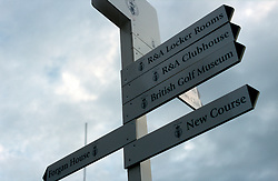 UK SCOTLAND ST ANDREWS 1-2JUN04 -  Signposts at the Old Course. The Royal and Ancient Golf Club of St. Andrews, Fife, Scotland is celebrating its 250th anniversary this year and is the governing authority for the rules of the game in more than 100 affiliated nations and is responsible for the Open Championship and key amateur and international events. The R & A is also dedicated to the development of golf world-wide and is a leader in environmental and ecological research.......jre/Photo by Jiri Rezac....© Jiri Rezac 2004....Contact: +44 (0) 7050 110 417..Mobile:  +44 (0) 7801 337 683..Office:  +44 (0) 20 8968 9635....Email:   jiri@jirirezac.com..Web:     www.jirirezac.com....© All images Jiri Rezac 2004 - All rights reserved...