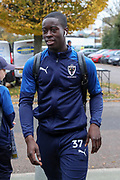 AFC Wimbledon defender Paul Osew (37) arriving during the The FA Cup match between AFC Wimbledon and Doncaster Rovers at the Cherry Red Records Stadium, Kingston, England on 9 November 2019.