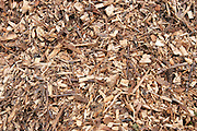 A pile of wood chip for burning in fuel efficient stoves.