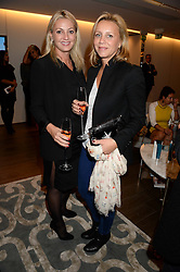 Left to right, BEATRICE VICENZINI-WARRENDER and SYLVIA BETTERMANN at a reception to launch the range of Dr Lancer beauty products held at The Penthouse, Harrods, Knightsbridge, London on 16th September 2013.