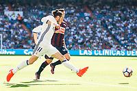 Real Madrid's player Gareth Bale and Eibar FC's player Antonio Luna during a match of La Liga Santander at Santiago Bernabeu Stadium in Madrid. October 02, Spain. 2016. (ALTERPHOTOS/BorjaB.Hojas)