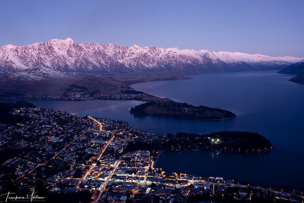 """REMARKABLE"" Remarkable's Mountain Range Queenstown South Island New Zealand."