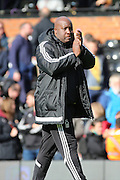 Nottingham Forest Head Coach Paul Williams applauding during the Sky Bet Championship match between Fulham and Nottingham Forest at Craven Cottage, London, England on 23 April 2016. Photo by Matthew Redman.