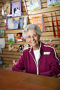 Senior Woman Working at the Bookstore