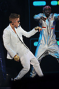 14.MARCH.2013. MADRID<br /> <br /> JUSTIN BIEBER PERFORMS IN CONCERT AT THE PALACIO DE LOS DEPORTES ON MARCH 14TH IN MADRID<br /> <br /> BYLINE: EDBIMAGEARCHIVE.CO.UK<br /> <br /> *THIS IMAGE IS STRICTLY FOR UK NEWSPAPERS AND MAGAZINES ONLY*<br /> *FOR WORLD WIDE SALES AND WEB USE PLEASE CONTACT EDBIMAGEARCHIVE - 0208 954 5968*