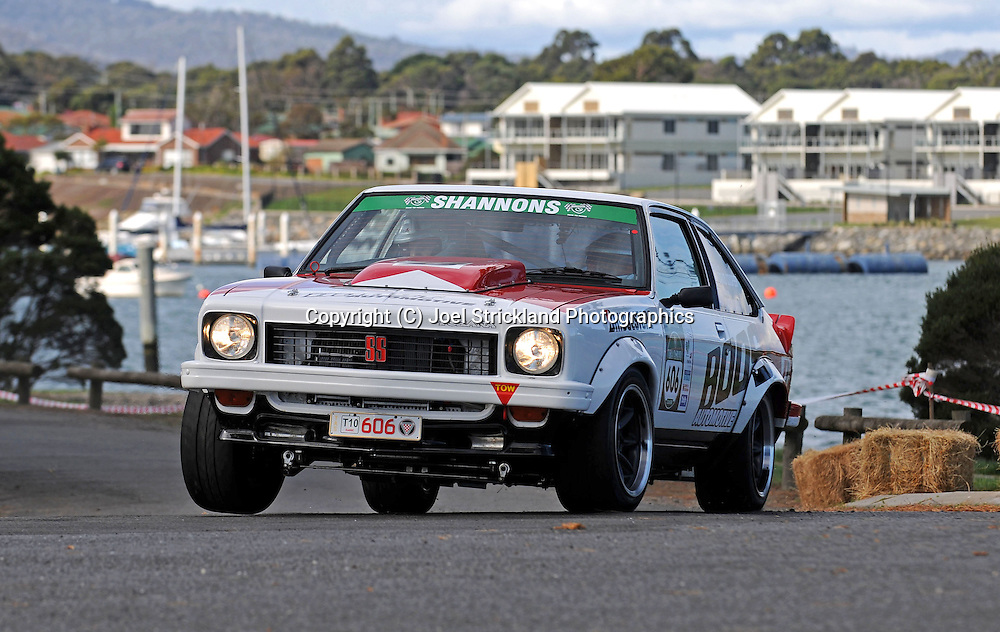 #606 - David Cooper & Jason Dann - 1977 Holden Torana A9X.Prologue.George Town.Targa Tasmania 2010.27th of April 2010.(C) Joel Strickland Photographics.Use information: This image is intended for Editorial use only (e.g. news or commentary, print or electronic). Any commercial or promotional use requires additional clearance.