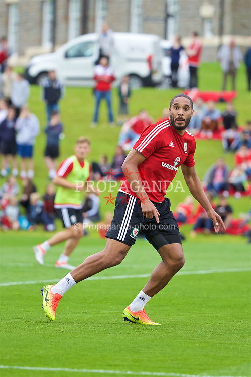 CARDIFF, WALES - Wednesday, June 1, 2016: Wales' captain Ashley Williams during a training session at the Vale Resort Hotel ahead of the International Friendly match against Sweden. (Pic by David Rawcliffe/Propaganda)