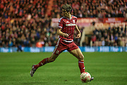 George Friend (Middlesbrough) during the Sky Bet Championship match between Middlesbrough and Hull City at the Riverside Stadium, Middlesbrough, England on 18 March 2016. Photo by Mark P Doherty.