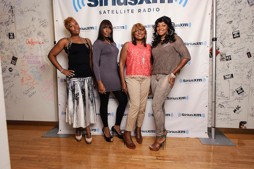 (L-R) Portraits of Traci Braxton, Towanda Braxton, Evelyn Braxton and Trina Braxton of WE tv's 'Braxton Family Values at SiriusXM Studios, NYC. August 16, 2012. Copyright © 2012 Matthew Eisman. All Rights Reserved.