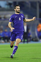 ZAGREB, CROATIA - NOVEMBER 09:  Alexandros Tziolis of Greece runs during the FIFA 2018 World Cup Qualifier play-off first leg match between Croatia and Greece at Maksimir Stadium on November 9, 2017 in Zagreb, Croatia. (Luka Stanzl/PIXSELL)