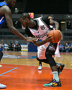 Gabe Freeman of the Razorsharks plays during a game against the Carolina Vipers at the Blue Cross Arena on Saturday, December 6, 2014.